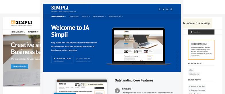 Landing Page - Joomla landing page template